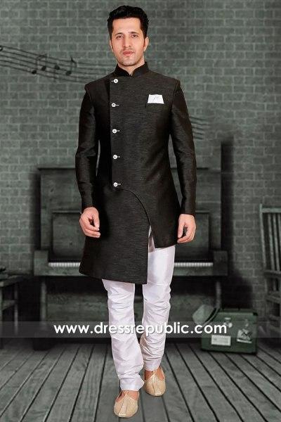 DRM5514 Sherwani for Bridegroom Friends, Sherwani for Dance Party Mehndi