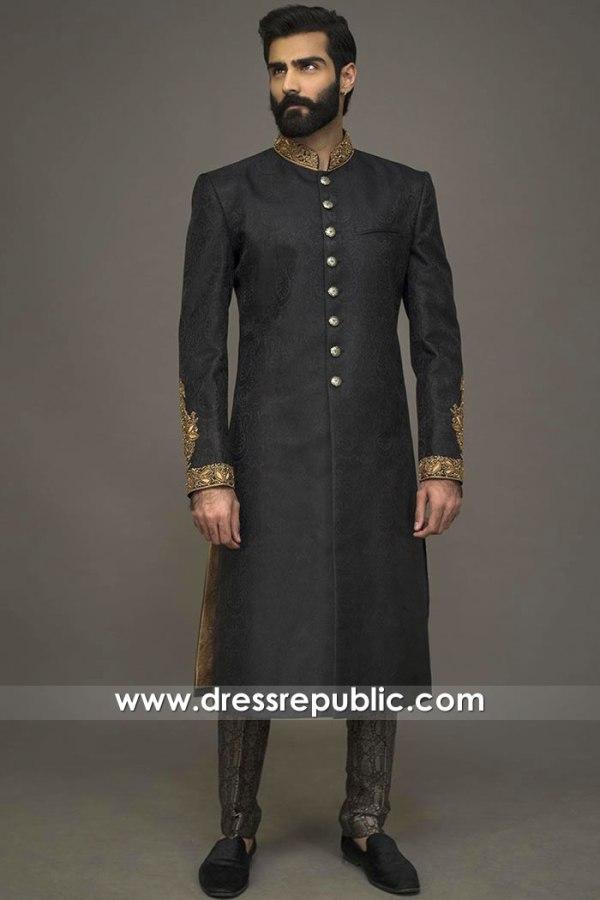 DRM5533 Junaid Jamshed Sherwani 2020 Buy Online Glasgow, Edinburgh, Scotland