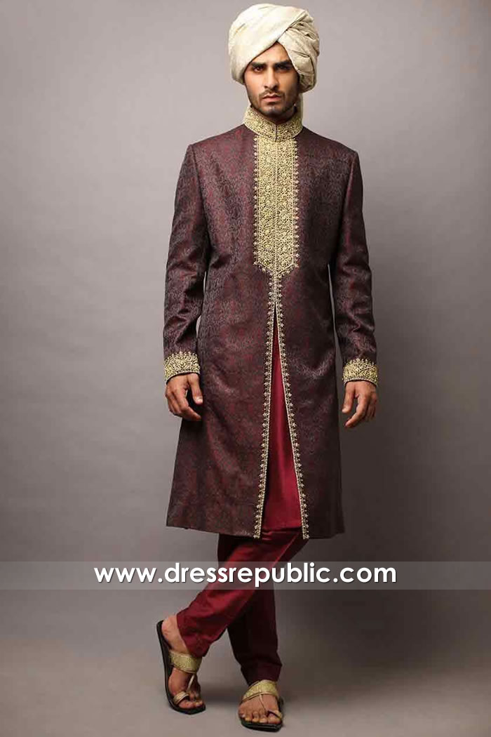 DRM5540 Designer Sherwani London Buy Online Groom Sherwani Manchester, UK