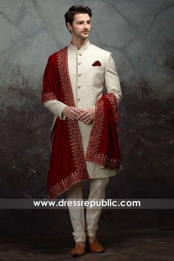 DRM5542 Pakistani Designer Menswear Sherwani and Shalwar Kameez Turkey