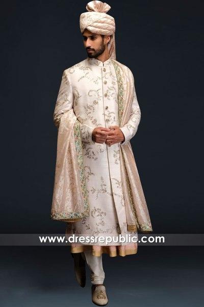 DRM5545 Khawer Iqbal Haute Couture Designer Sherwani Styles 2020 Collection