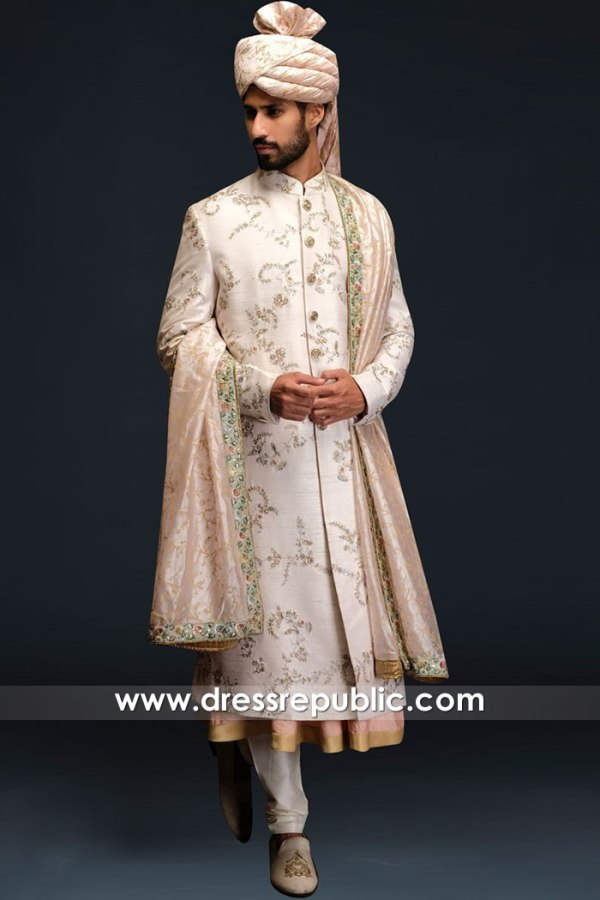 DRM5545 Khawer Iqbal Haute Couture Designer Sherwani Styles 2020 Collection