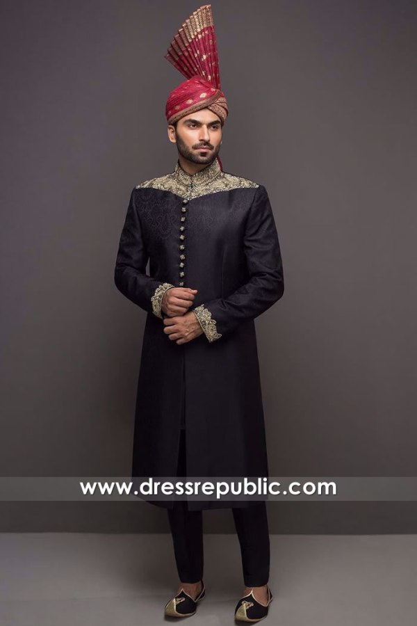 DRM5552 HSY Wedding Sherwani Buy Online in Bolton, Blackburn, Liverpool, UK