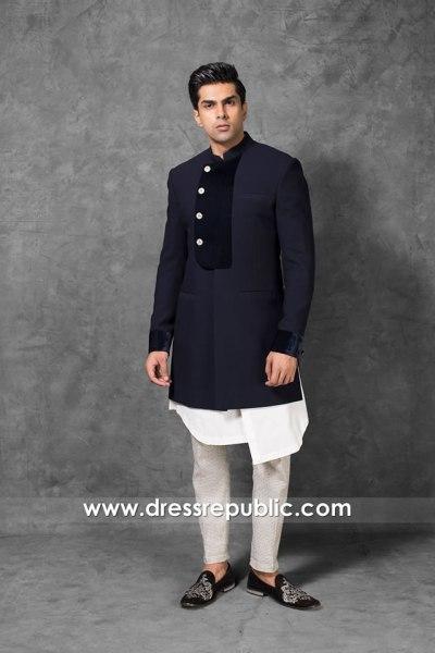 DRM5562 Khawer Iqbal Pakistani Designer Sherwani 2020 2021 Collection Online