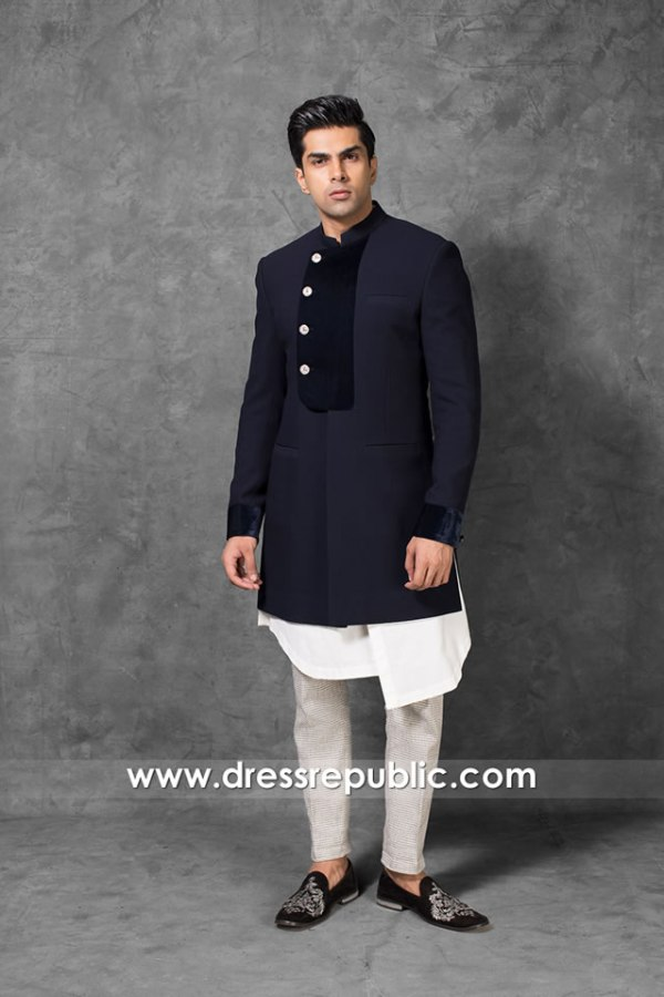 DRM5562 Khawer Iqbal Pakistani Designer Sherwani 2020 2021 Collection Online