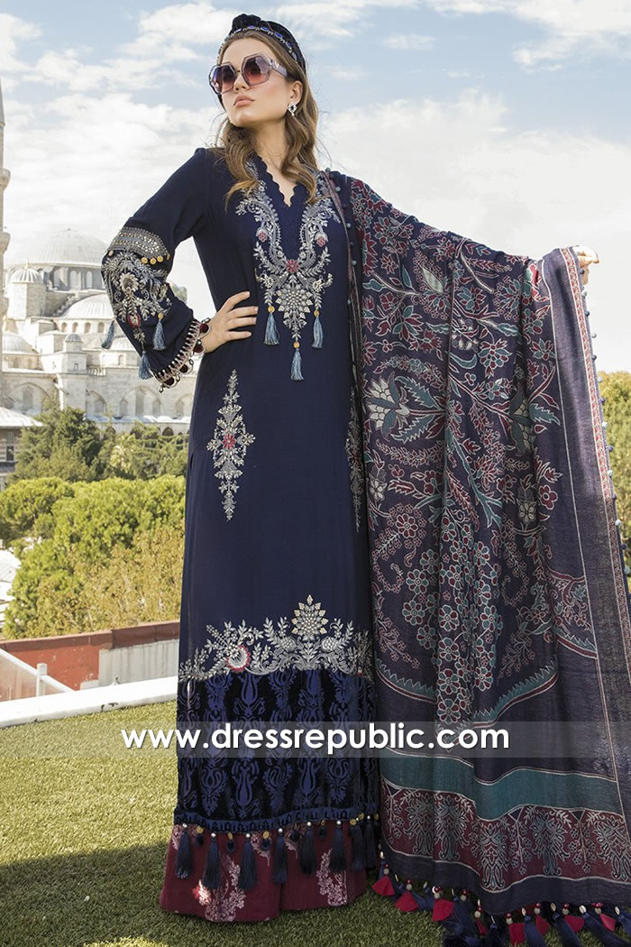 DRP2052 Maria B Linen Winter 20 Buy in Houston, Dallas, Miami, Jacksonville, USA
