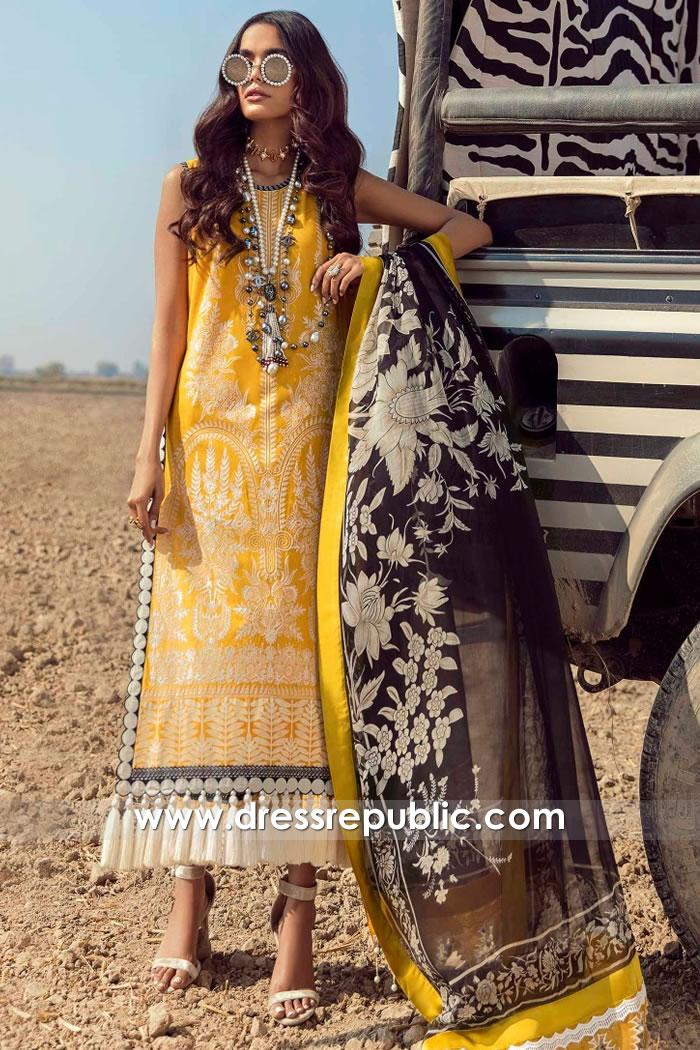 DRP2223 Sana Safinaz Lawn Wholesale Lawn Suits New York, New Jersey, USA