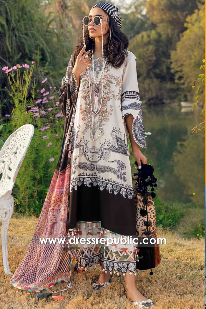 DRP2239 Pakistani Lawn Suits Online Shopping in Istanbul, Antalya, Izmir, Turkey