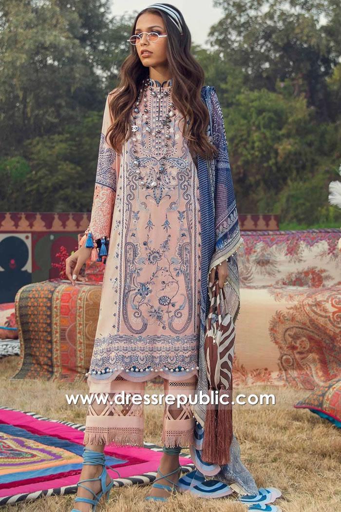 DRP2242 Pakistani Lawn Suits Online USA   Shalwar Kameez Prints 2021 USA