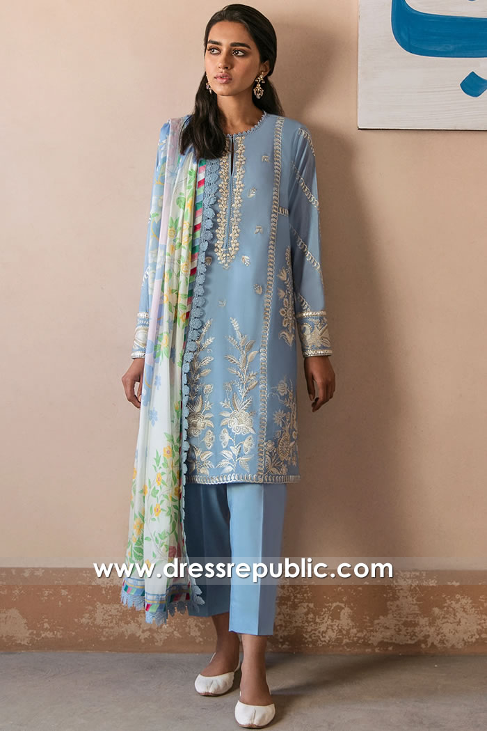DRP2338 Top 10 Pakistani Dresses for Ramadan Eid Festival 2021   Iftar & Sahur