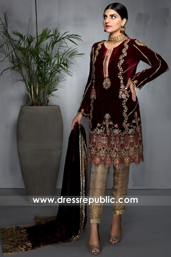 DR16019 Designer Salwar Kameez Suits for Wedding Party Online California, USA