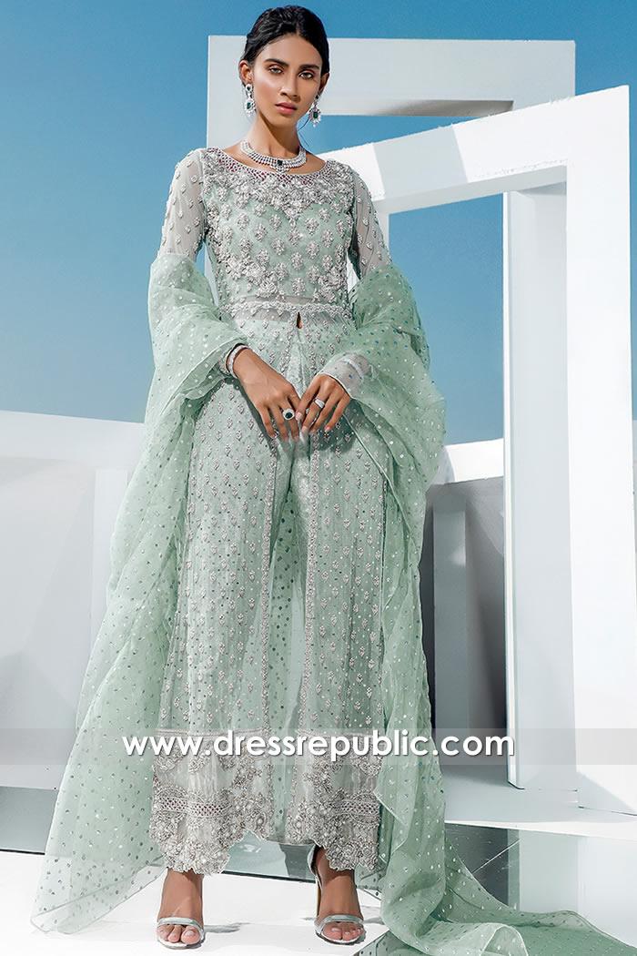DR16063 Wedding Guest Pakistani Dress 2021 Online in London, Manchester, UK