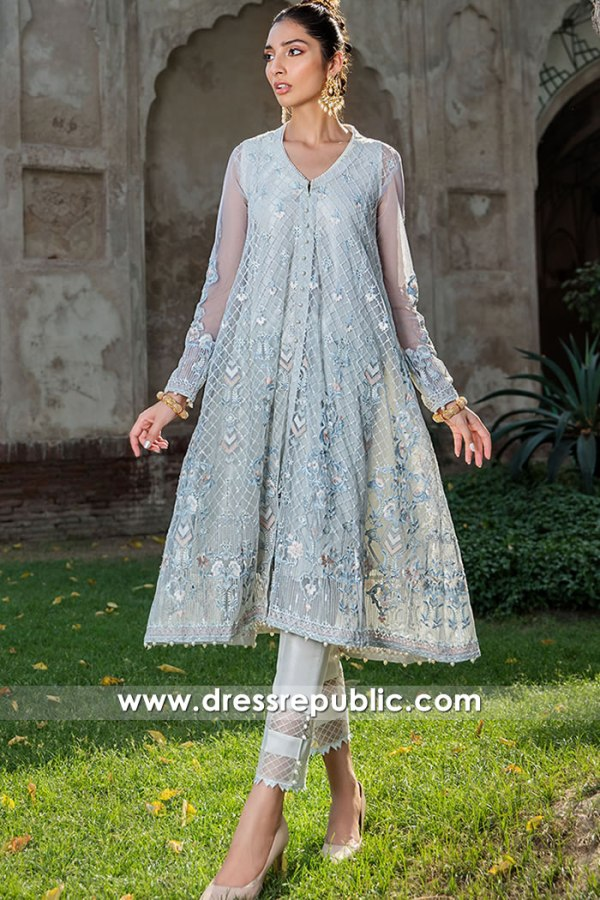 DR16107 Tulle net Pakistani Party Wear Dresses in Manchester, Birmingham, UK