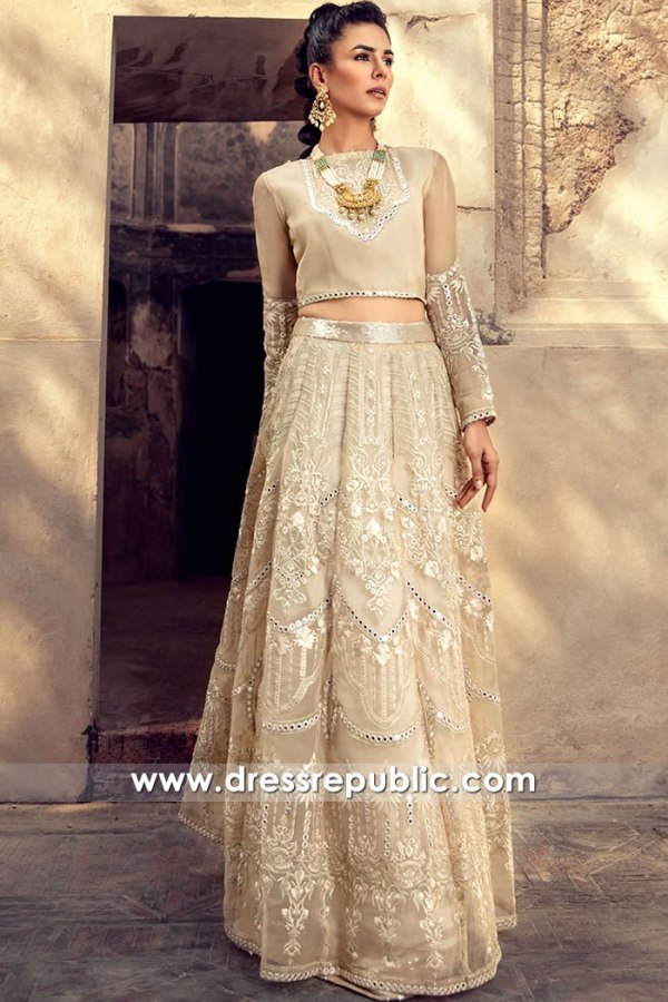 DR16110 Designer Floral Embroidered Lehenga Choli for Wedding Guests Online
