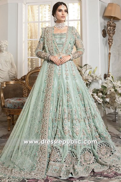 DR16179b Pakistani Designer Valima Reception Dress, Walima Bridal Dress 2021