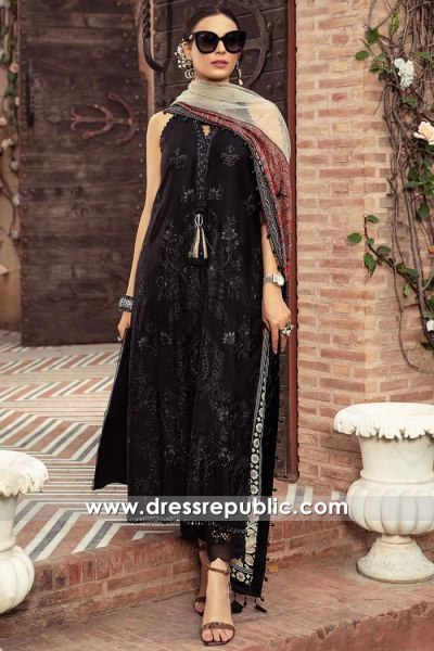 DRP2721 Maria B Sateen 2021 Stitched Lawn Shops in London, Manchester, UK