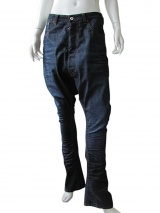 Vic-Torian Washed-out dark blue jeans