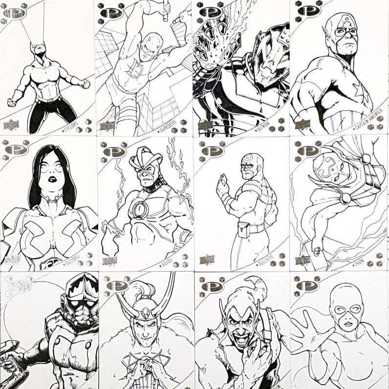 Base inks for 2017 Marvel Premier sketch cards