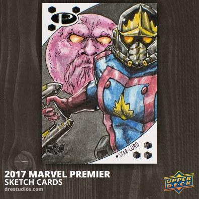 Star Lord - Marvel Premier 2017 Sketch Card