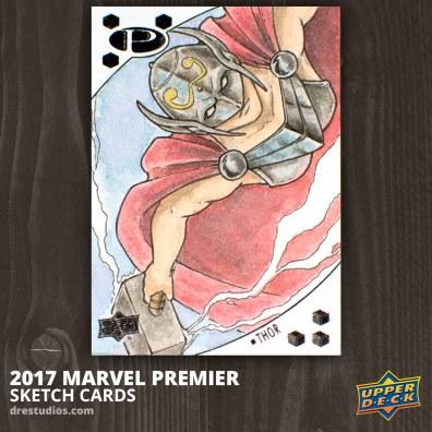 Thor - Marvel Premier 2017 Sketch Card