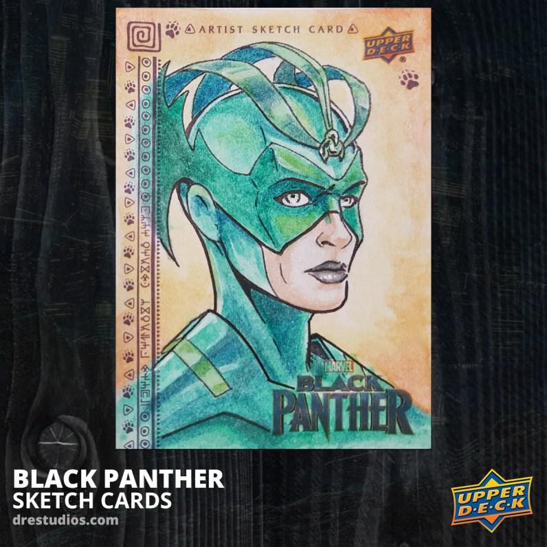 andrei-ausch-black-panther-sketch-card-hela-thor-ragnarok