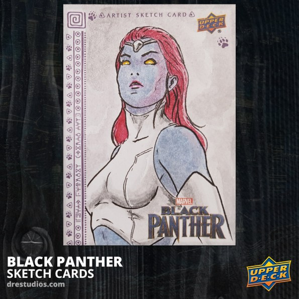 andrei-ausch-black-panther-sketch-card-mystique-x-men