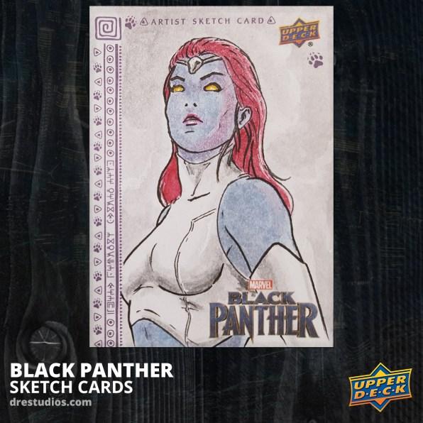 andrei-ausch-black-panther-sketch-card-mystique-x-men