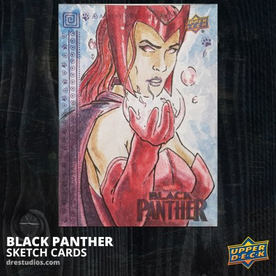 Scarlet Witch Sketch Card