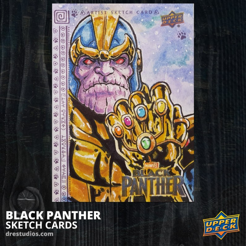 andrei-ausch-black-panther-sketch-card-thanos-infinity-gauntlet