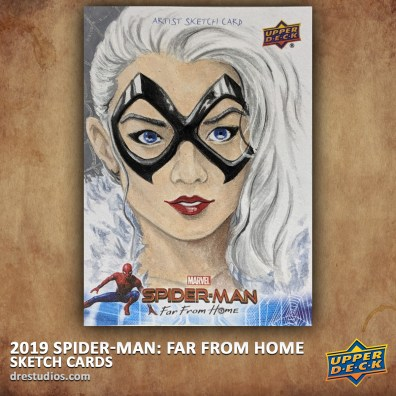 upper-deck-spider-man-far-from-home-trading-sketch-card-andrei-ausch-black-cat