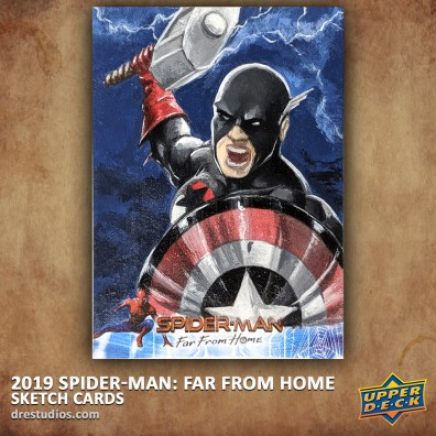upper-deck-spider-man-far-from-home-trading-sketch-card-andrei-ausch-captain-america