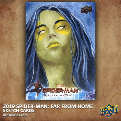 upper-deck-spider-man-far-from-home-trading-sketch-card-andrei-ausch-gamora