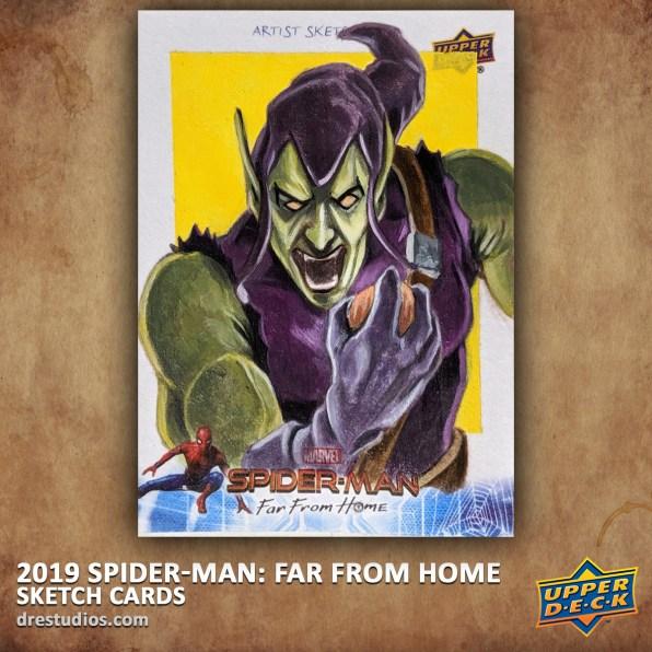 upper-deck-spider-man-far-from-home-trading-sketch-card-andrei-ausch-green-goblin