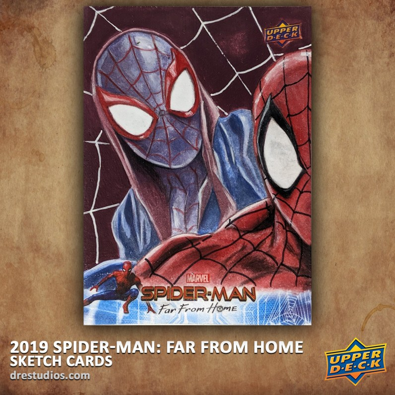 upper-deck-spider-man-far-from-home-trading-sketch-card-andrei-ausch-miles-morales-puzzle