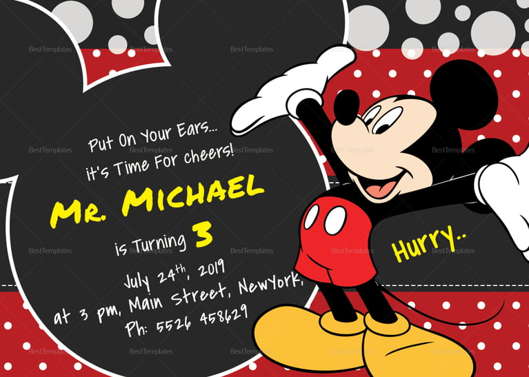 free printable mickey mouse 1st