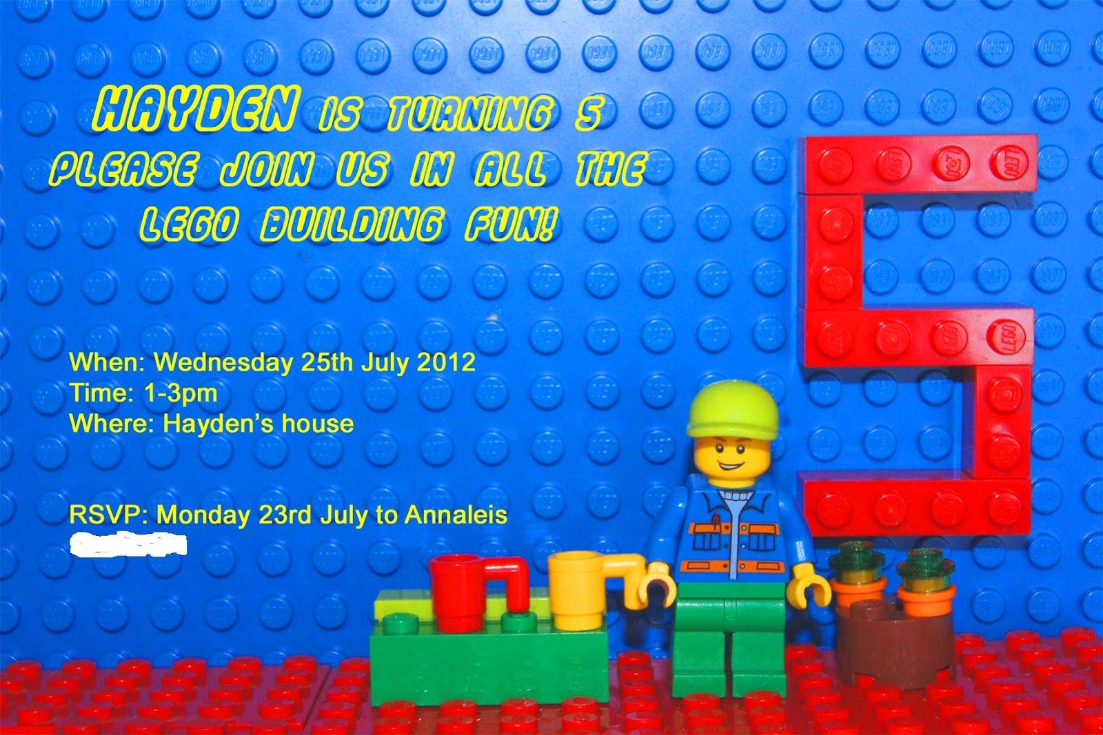Free Printable Lego Birthday Invitations Free Invitation Templates