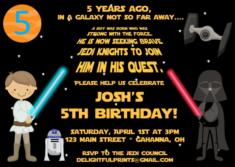 Printable Invitations Star Wars
