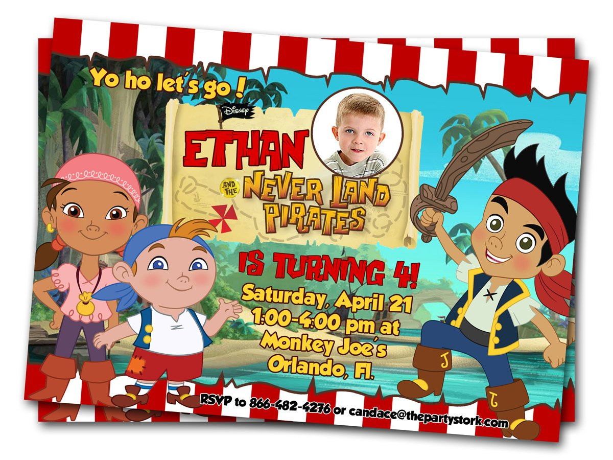 Printable Birthday Invitations Jake And Neverland Pirates