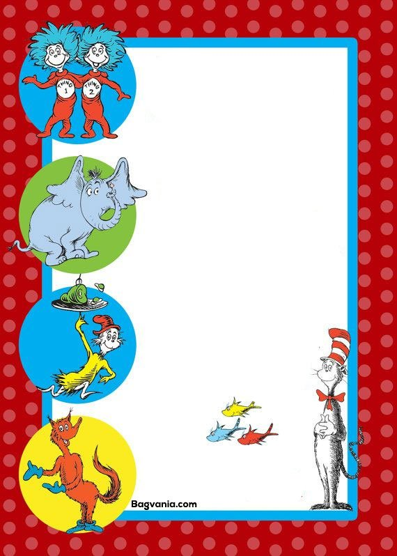 Free Printable Dr Seuss Birthday Invitations Drevio