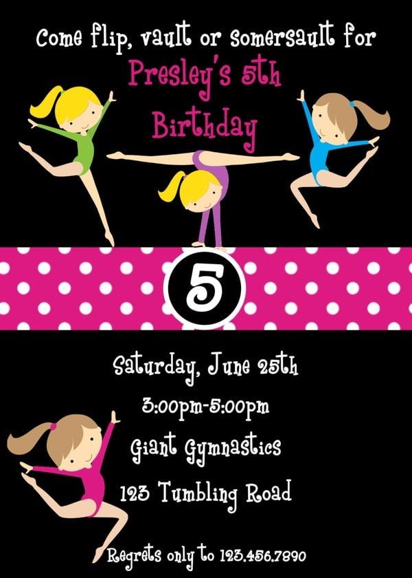 Printable Jump Invitations