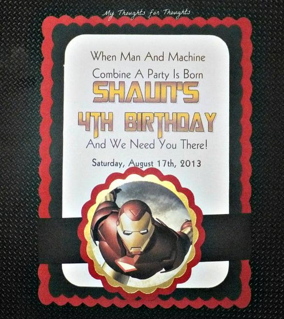 Iron man invitations cogimbo iron man free printable birthday party invitations filmwisefo