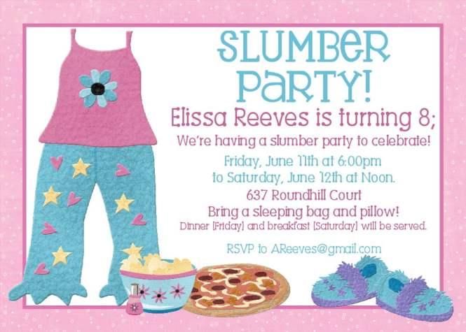 13 Year Old Birthday Invitations Choice Image Invitation Design – Slumber Party Invitation Templates Free