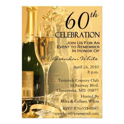 Free Printable 60th Birthday Party Invitations Free