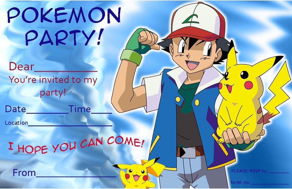 free pokemon pikachu birthday