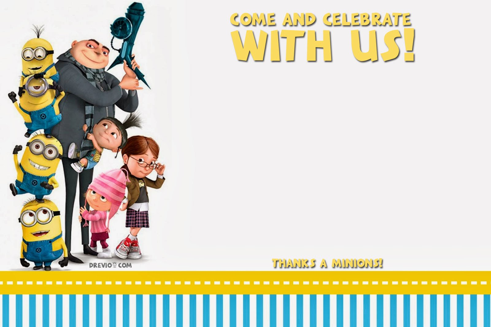 free printable despicable me birthday