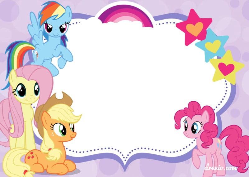 Updated Free Printable My Little Pony Birthday
