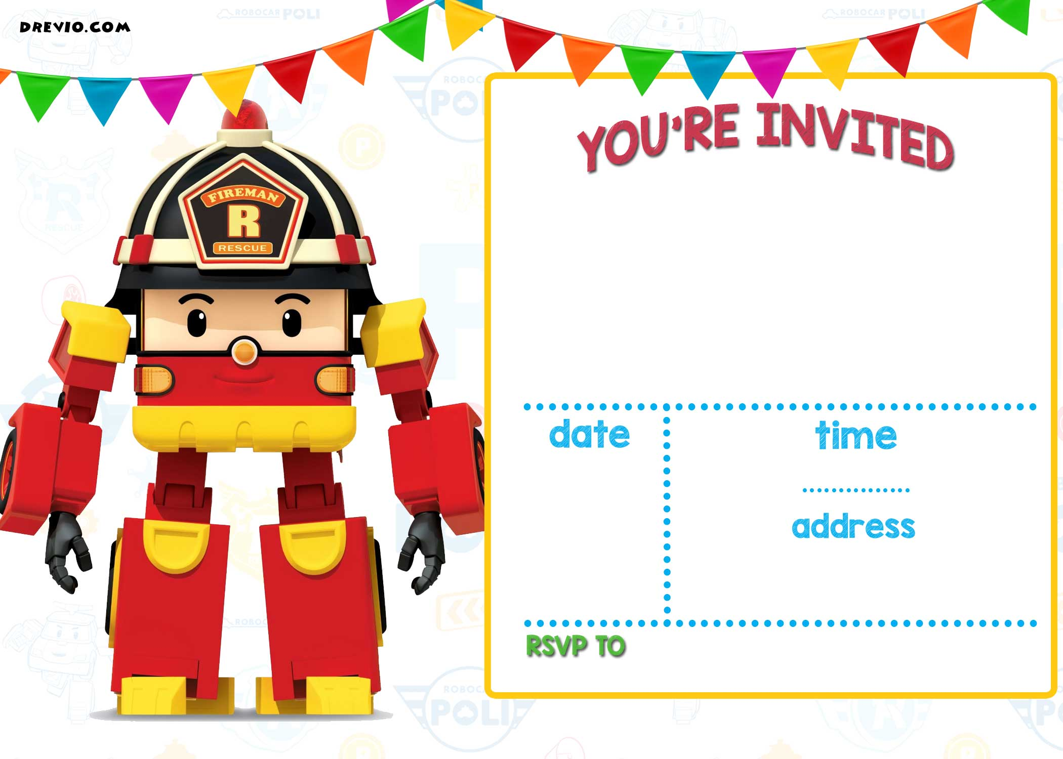 Printable Birthday Invitations You Can Color