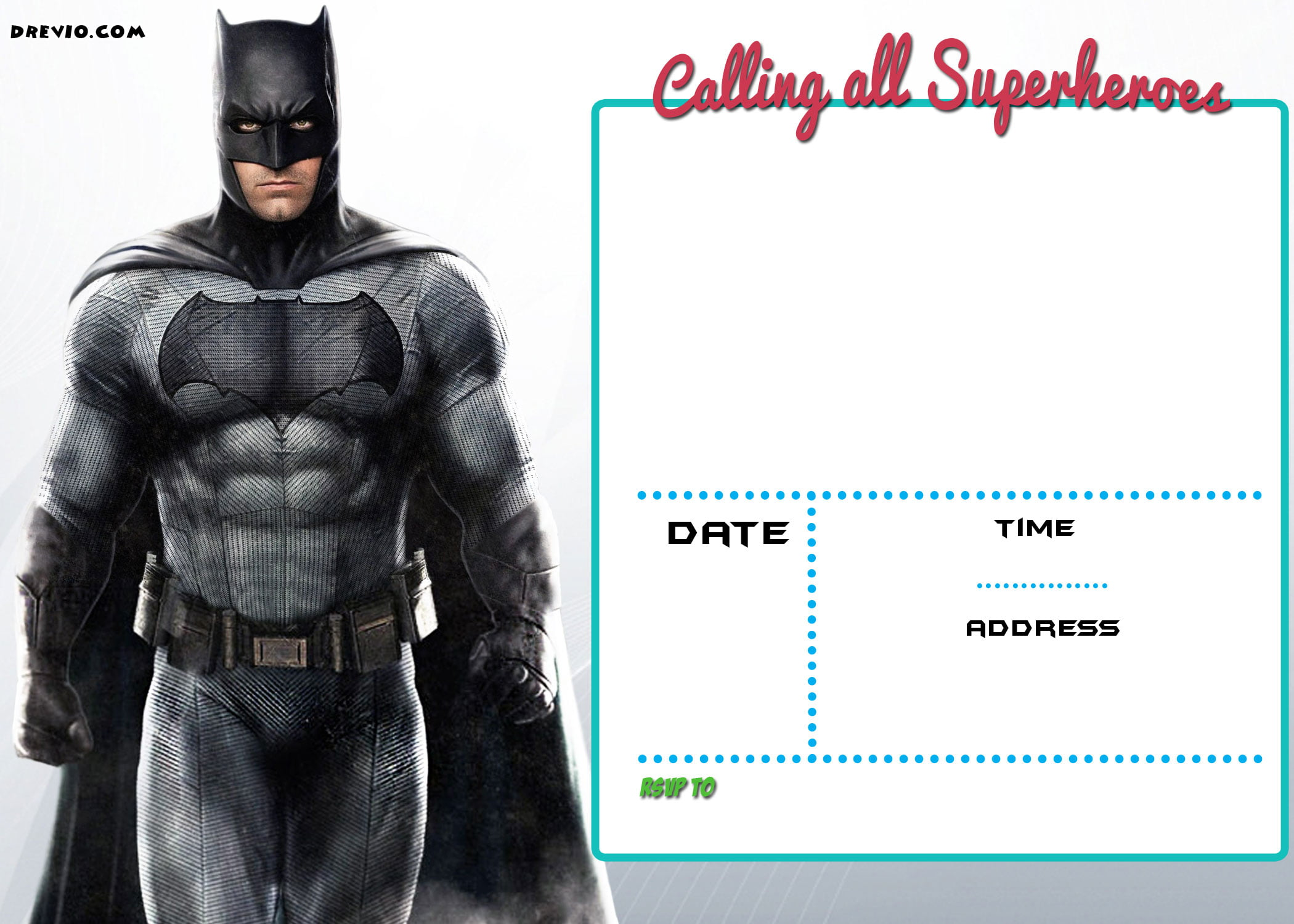 free printable justice league