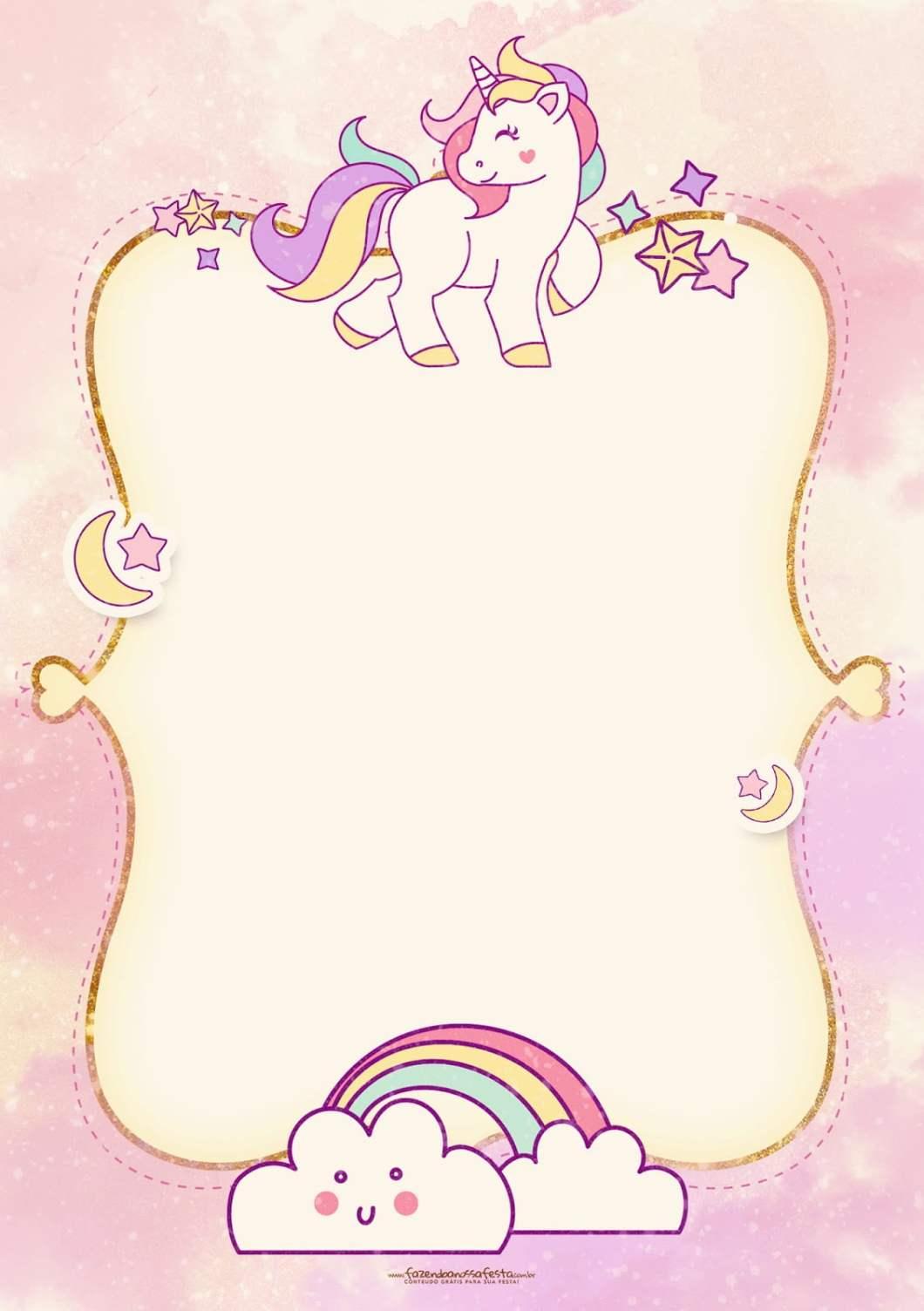 Editable birthday invitations templates free unicorn onvacationsite free printable golden unicorn birthday invitation template filmwisefo