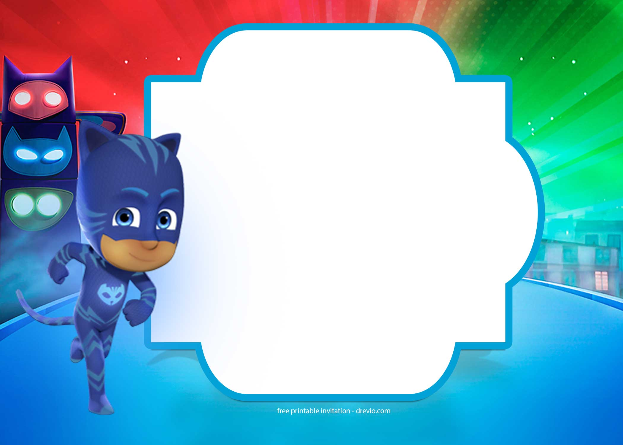 9 free pj masks birthday invitation